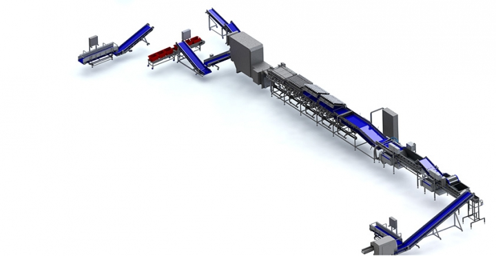 Proccessing line featuring the foodlife SDS8000+